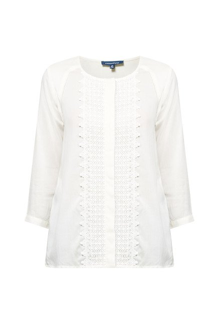 Cottonworld Lace White Blouse