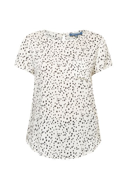 Cottonworld Printed White Blouse