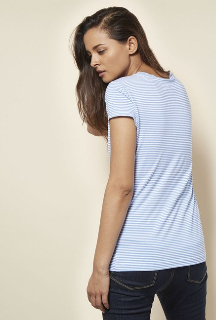 Cottonworld Stripe Blue T Shirt