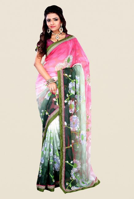 Shonaya Multicolor Georgette & Viscose Printed Saree