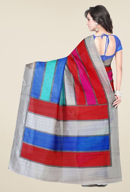 Shonaya Multicolor Bhagalpuri Silk Striped Saree