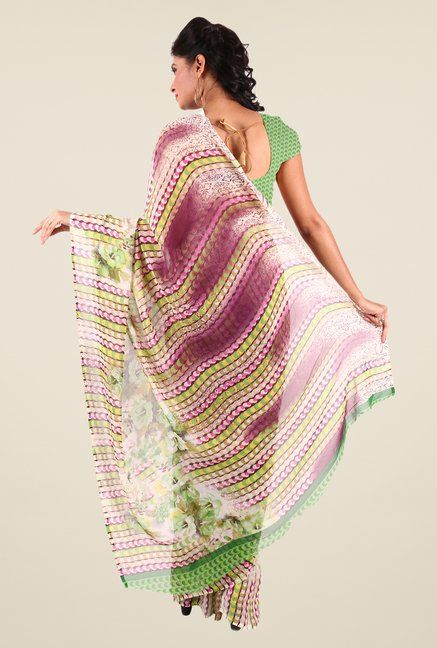 Shonaya Multicolor Georgette Printed Saree