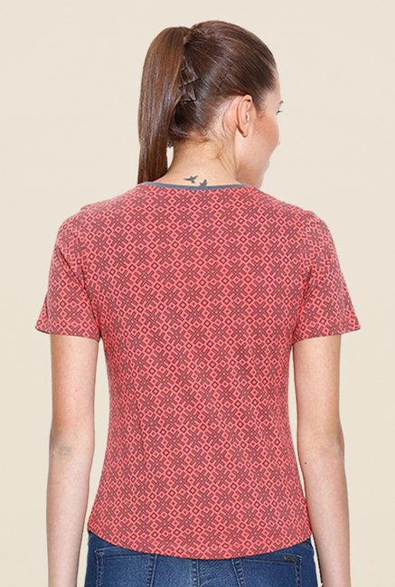 Cult Fiction Rust Printed T Shirt