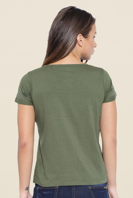 Cult Fiction Olive Embellished T Shirt