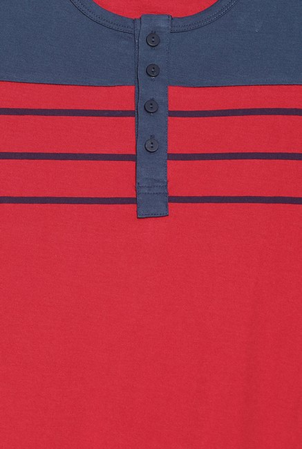 Cult Fiction Red Solid T Shirt