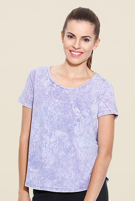 Cult Fiction Lilac Tie Dye T Shirt