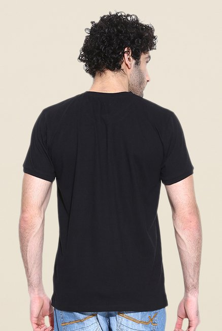 Cult Fiction Black Solid T Shirt