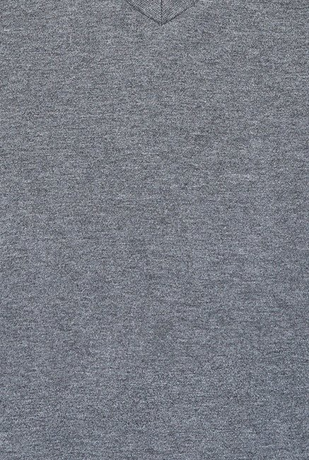 Cult Fiction Grey Solid T Shirt