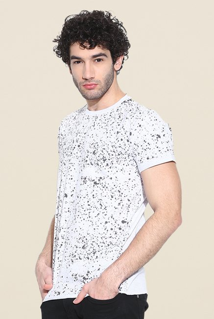 Cult Fiction White Printed T Shirt