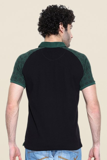 Cult Fiction Black Solid Polo T Shirt