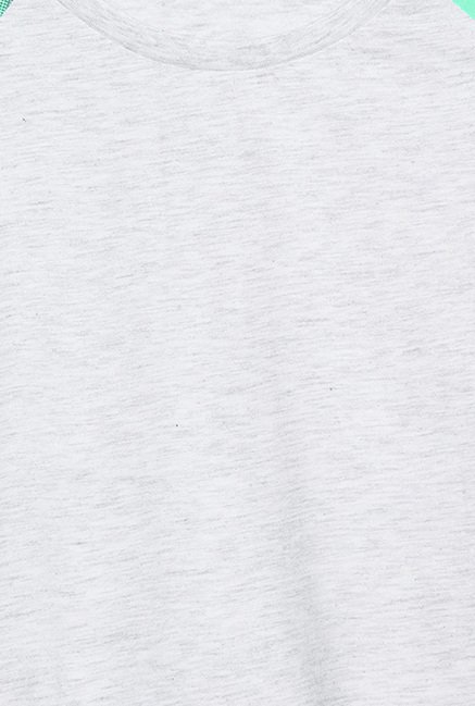 Cult Fiction Grey Textured T Shirt