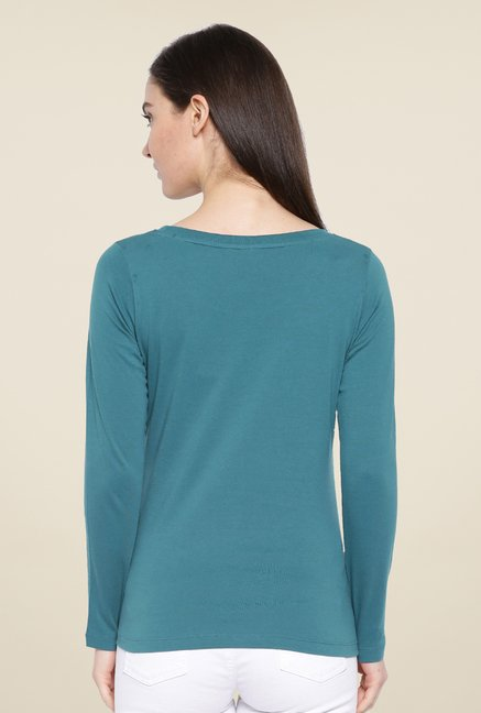 Cult Fiction Teal Solid T Shirt