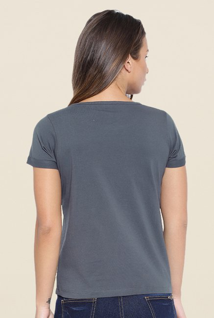 Cult Fiction Charcoal Embellished T Shirt