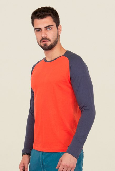 Cult Fiction Orange Solid T Shirt