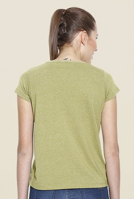 Cult Fiction Olive Graphic Print T Shirt
