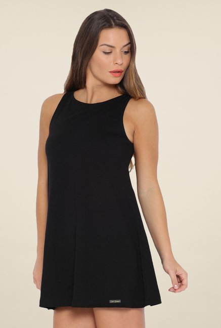 Cult Fiction Black Solid Dress