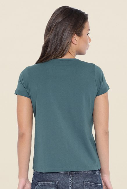 Cult Fiction Teal Embellished T Shirt