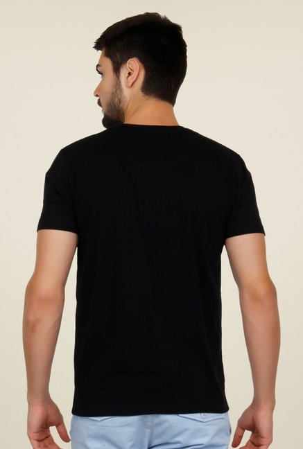 Cult Fiction Black Printed T Shirt