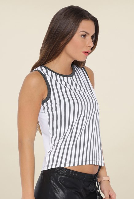 Cult Fiction White Striped Top