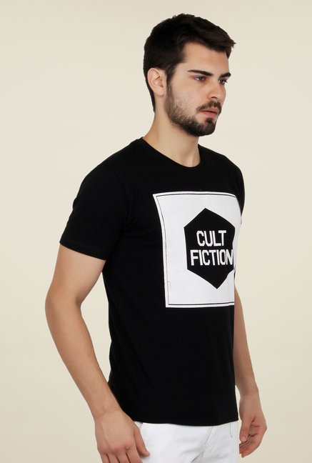 Cult Fiction Black Graphic Print T Shirt