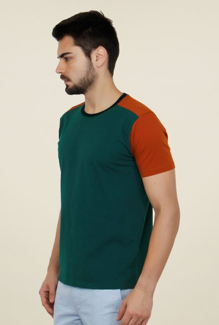 Cult Fiction Teal Green Solid T Shirt
