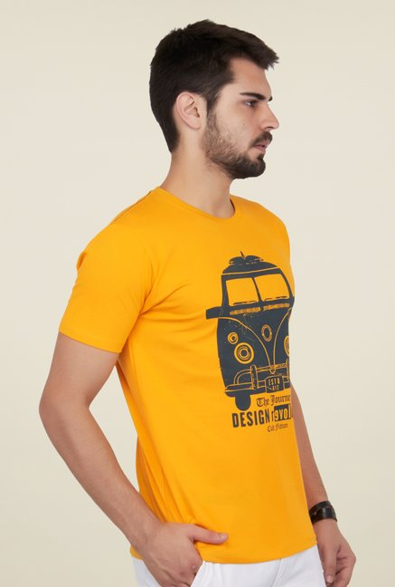 Cult Fiction Mustard Graphic Print T Shirt