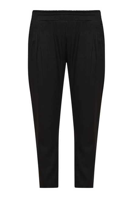 Zudio Black Solid Pants