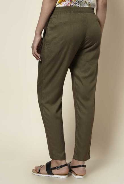 Zudio Khaki Solid Pants