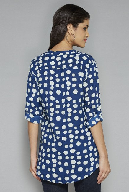 Utsa by Westside Indigo Printed Top