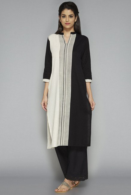 Utsa by Westside Black Striped Kurta