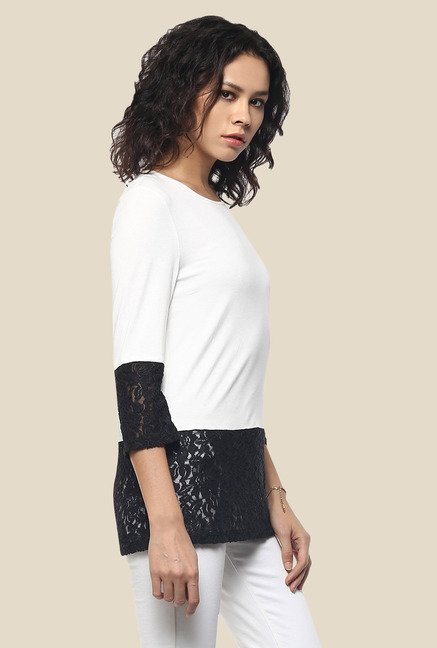 Femella White Solid Top
