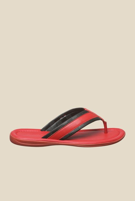 Enzoni X4 Red & Black Thong Sandals