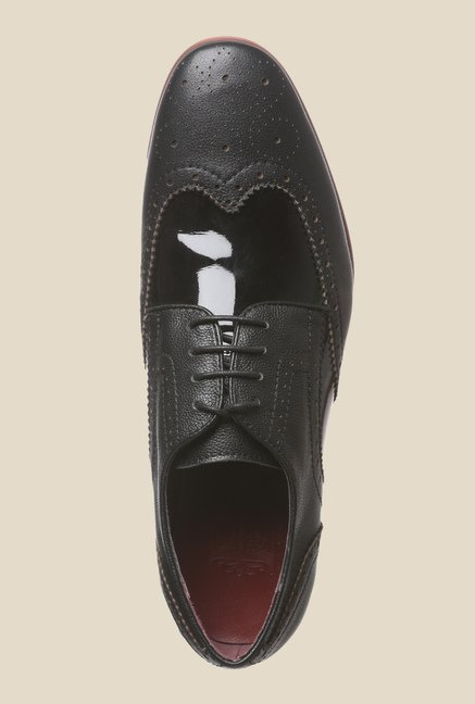Enzoni Elfa Black Brogue Shoes