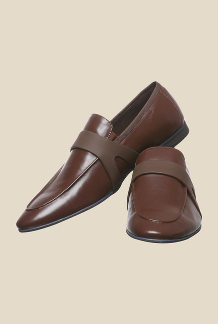 Enzoni Bonia Coffee Formal Slip-Ons