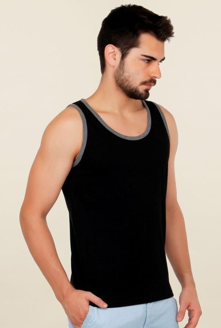 Cult Fiction Black Solid Vest