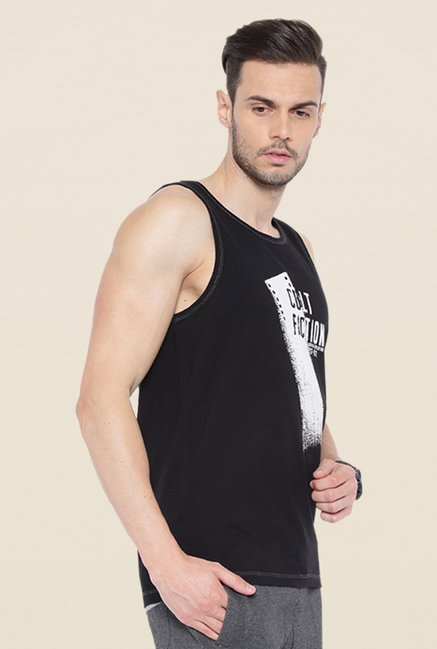 Cult Fiction Black Printed Vest