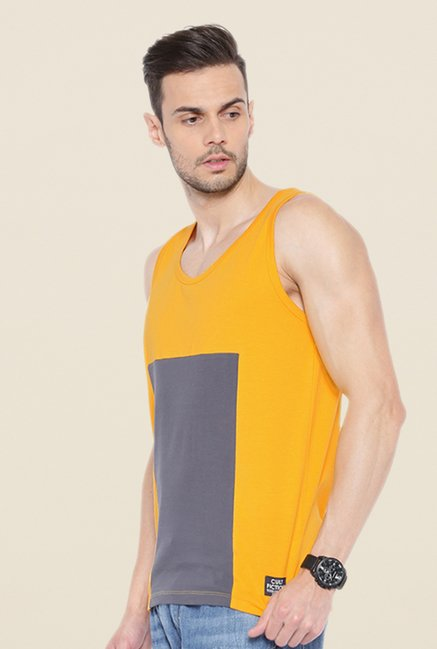 Cult Fiction Mustard Solid Vest