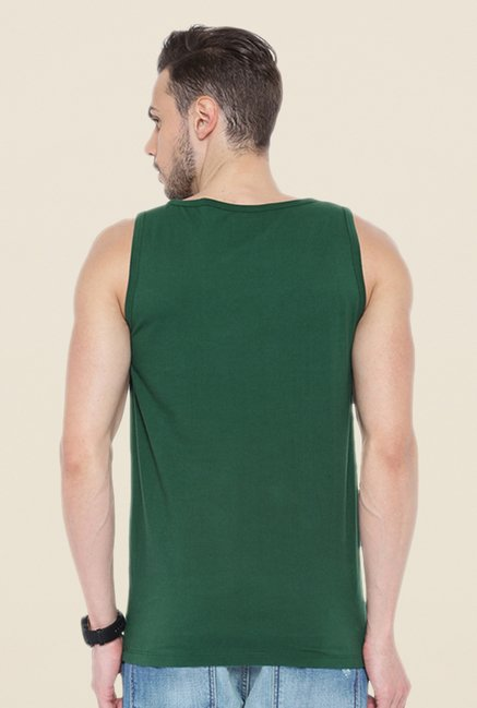 Cult Fiction Green Striped Vest