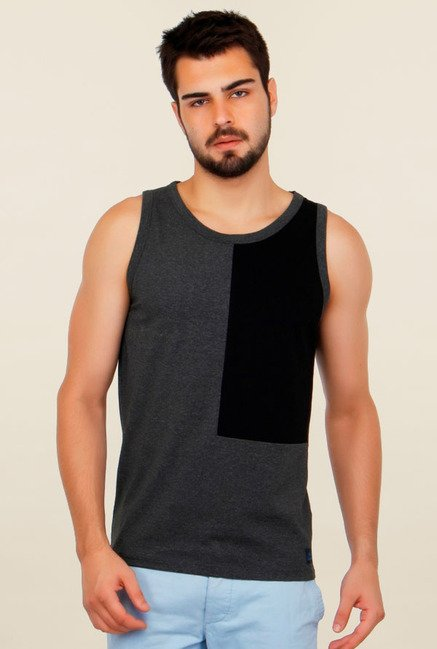Cult Fiction Grey Solid Vest
