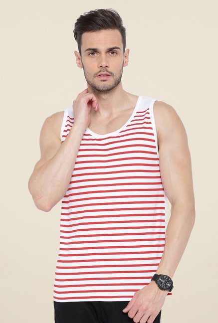 Cult Fiction White Striped Vest