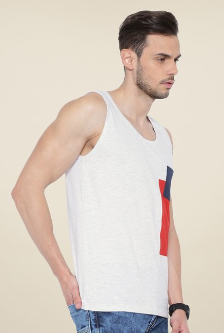 Cult Fiction White Textured Vest