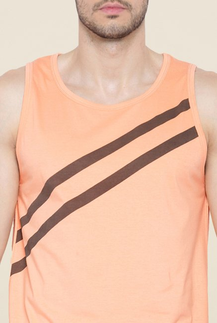 Cult Fiction Peach Striped Vest