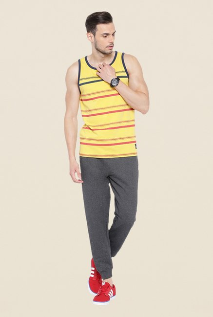 Cult Fiction Yellow Striped Vest