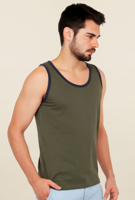 Cult Fiction Olive Solid Vest