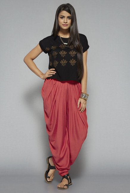 Bombay Paisley by Westside Coral Dhoti Pant