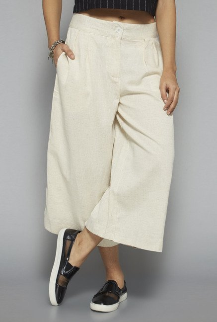 Bombay Paisley by Westside Off White Culottes