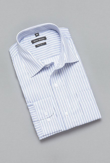 Weststreet by Westside Blue Striped Shirt