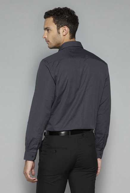 Weststreet by Westside Charcoal Solid Shirt