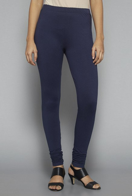 Zuba by Westside Navy Solid Leggings