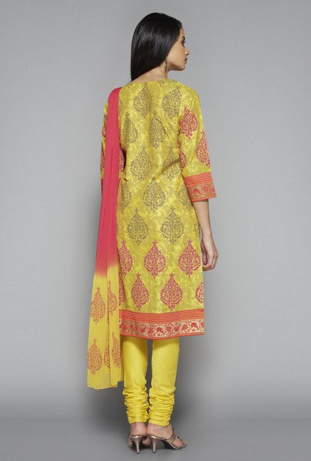 Vark by Westside Mustard Printed Suit Set